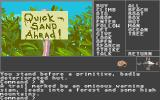Mindshadow Atari ST A warning sign for quicksand