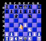The Chessmaster Game Gear Moving my pawn.