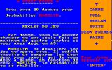 Strip Poker Amstrad CPC Instructions (in French)...