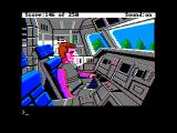 Space Quest II: Chapter II - Vohaul's Revenge Apple II Piloting a spaceship...