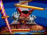 Aero the Acro-Bat SNES Title screen