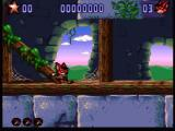 Aero the Acro-Bat 2 SNES Level with leaves and fallen trees