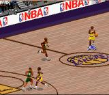 NBA Live 97 SNES Dribbling at midcourt