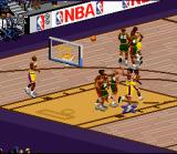 NBA Live 97 SNES He shoots over the defenders!
