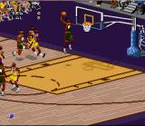 NBA Live 97 SNES Going up for the dunk!