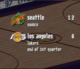 NBA Live 97 SNES Scores after 1st quarter