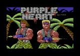 Purple Heart Commodore 64 Title screen