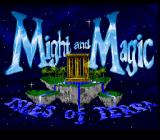 Might and Magic III: Isles of Terra SNES Title screen