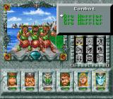 Might and Magic III: Isles of Terra SNES Fighting a few orc warriors