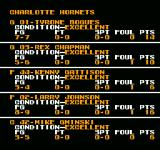 Tecmo NBA Basketball NES Individual players game stats