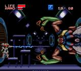 Xardion SNES Trying the plasma weapon against the boss