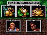 Battletoads & Double Dragon: The Ultimate Team SNES Choosing a character