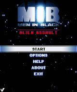 Men in Black: Alien Assault J2ME Main menu