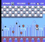 Hello Kitty World NES Try to catch the balloons while avoiding the birds.