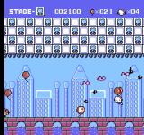 Hello Kitty World NES A power-up balloon grants temporary invincibility.