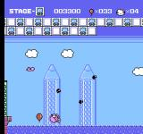 Hello Kitty World NES Can you find Kitty? Yes, she's in the sea.