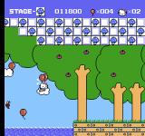 Hello Kitty World NES The next stage takes place in a Mario-like forest.