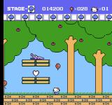 Hello Kitty World NES You can release the balloons and just jump around.