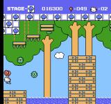 Hello Kitty World NES As soon as you pass below, these green things fall and explode.