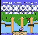 Hello Kitty World NES A boss battle