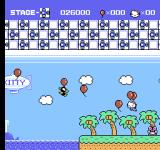 Hello Kitty World NES The enemies have copied Kitty's mode of transportation.