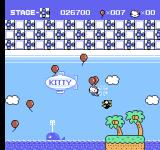 Hello Kitty World NES It's easy to defeat the balloon-carried enemies.