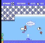 Hello Kitty World NES Caught between the birds.