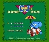 Quattro Arcade NES C.J.'s Elephant Antics title screen