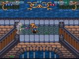 Illusion of Gaia SNES Fighting skeletons on the bridge