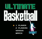 Ultimate Basketball  NES Title screen