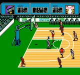 Ultimate Basketball  NES About to make a basket.