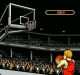 Ultimate Basketball  NES At the free throw line