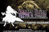 Yggdra Union: We'll Never Fight Alone Game Boy Advance US title screen