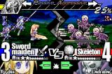Yggdra Union: We'll Never Fight Alone Game Boy Advance Sword Maiden vs Skeleton