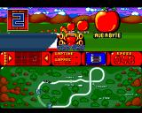 Bump 'N' Burn Amiga The Race Track (with course map)