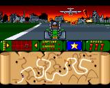 Bump 'N' Burn Amiga The War Torn City (with course map)