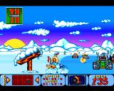 Bump 'N' Burn Amiga The Frozen Fjords - on a very slippery ice
