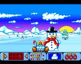 Bump 'N' Burn Amiga The Frozen Fjords - stopped by a snowman