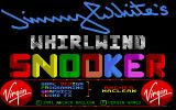 Jimmy White's 'Whirlwind' Snooker Atari ST Title screen
