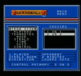Roundball: 2-On-2 Challenge NES Main menu