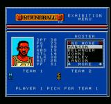 Roundball: 2-On-2 Challenge NES Player attribute screen