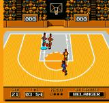 Roundball: 2-On-2 Challenge NES Heading towards the basket