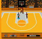 Roundball: 2-On-2 Challenge NES The basketball is above the rim