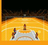 Roundball: 2-On-2 Challenge NES You have to wait for the curser to go over the net to make the basket