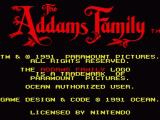 The Addams Family SNES Title