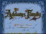 The Addams Family SNES Main menu