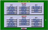 Tom Landry Strategy Football Deluxe Edition DOS Selecting teams.