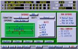 Tom Landry Strategy Football Deluxe Edition DOS Setting the strategy for the next play.