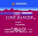The Lone Ranger NES Title screen