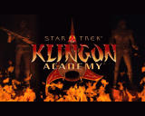 Star Trek: Klingon Academy Windows Title screen from cut-scene